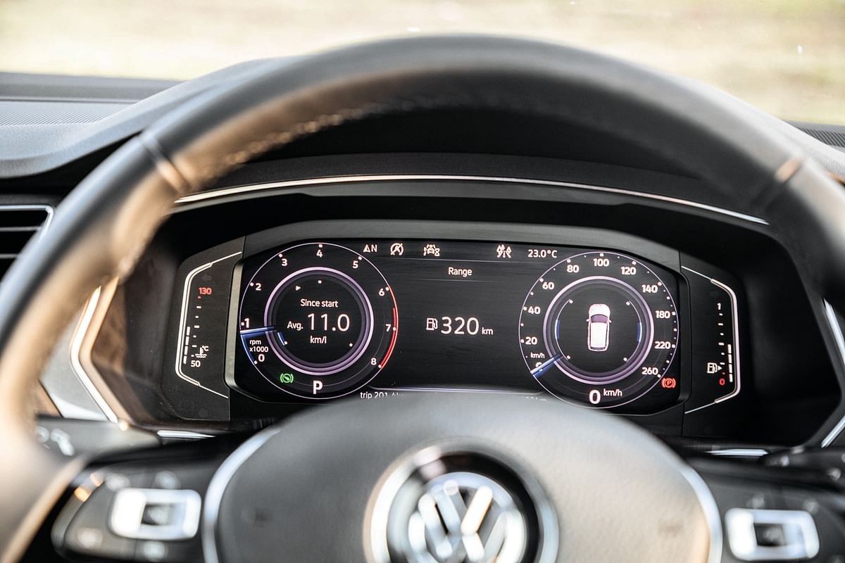 Digital cockpit in the Volkswagen Tiguan Allspace