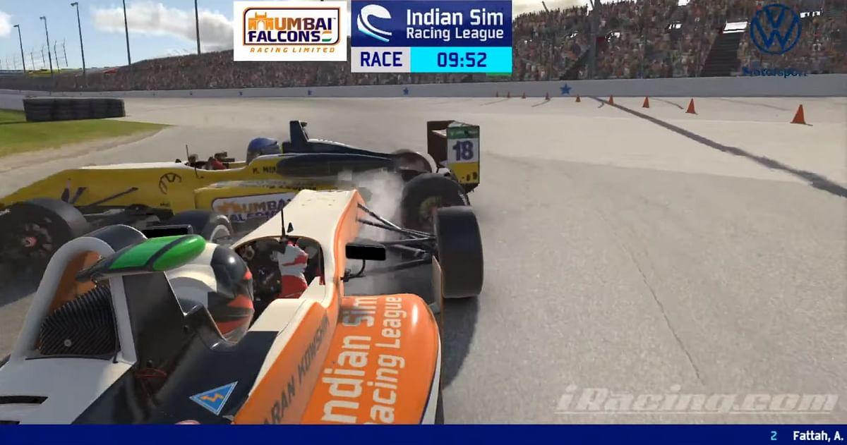 Kaushick Mohanraja crashes into Karan Kowshik