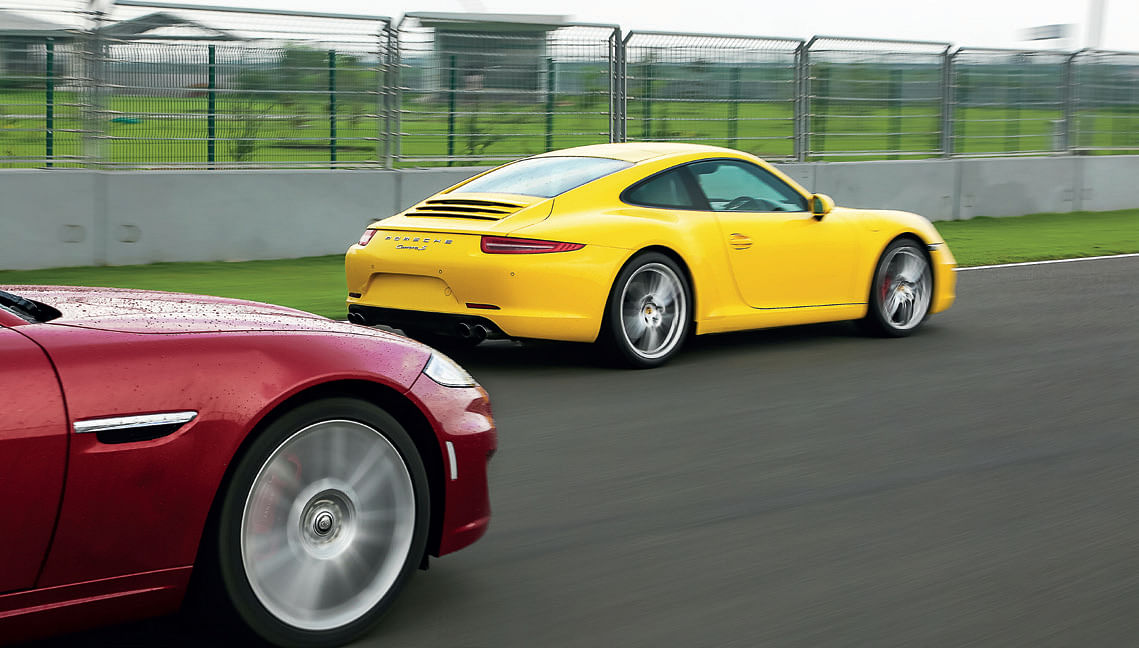 Supercharged Jag's horsepower no match for Porsche's power-to-weight