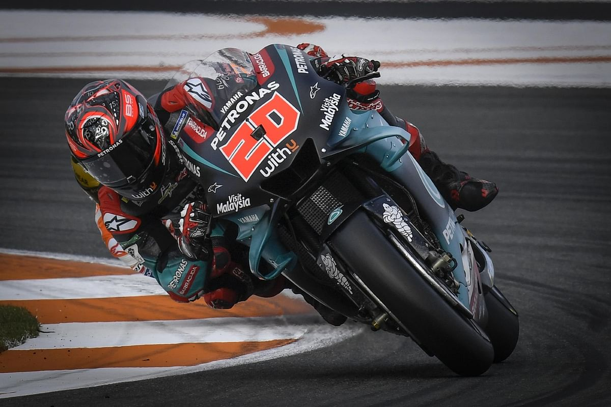 Fabio Quartararo at the 2019 Spanish GP at Valencia