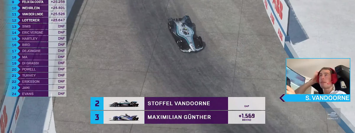 Stoffel Vandoorne's second place finish meant he clinched the title