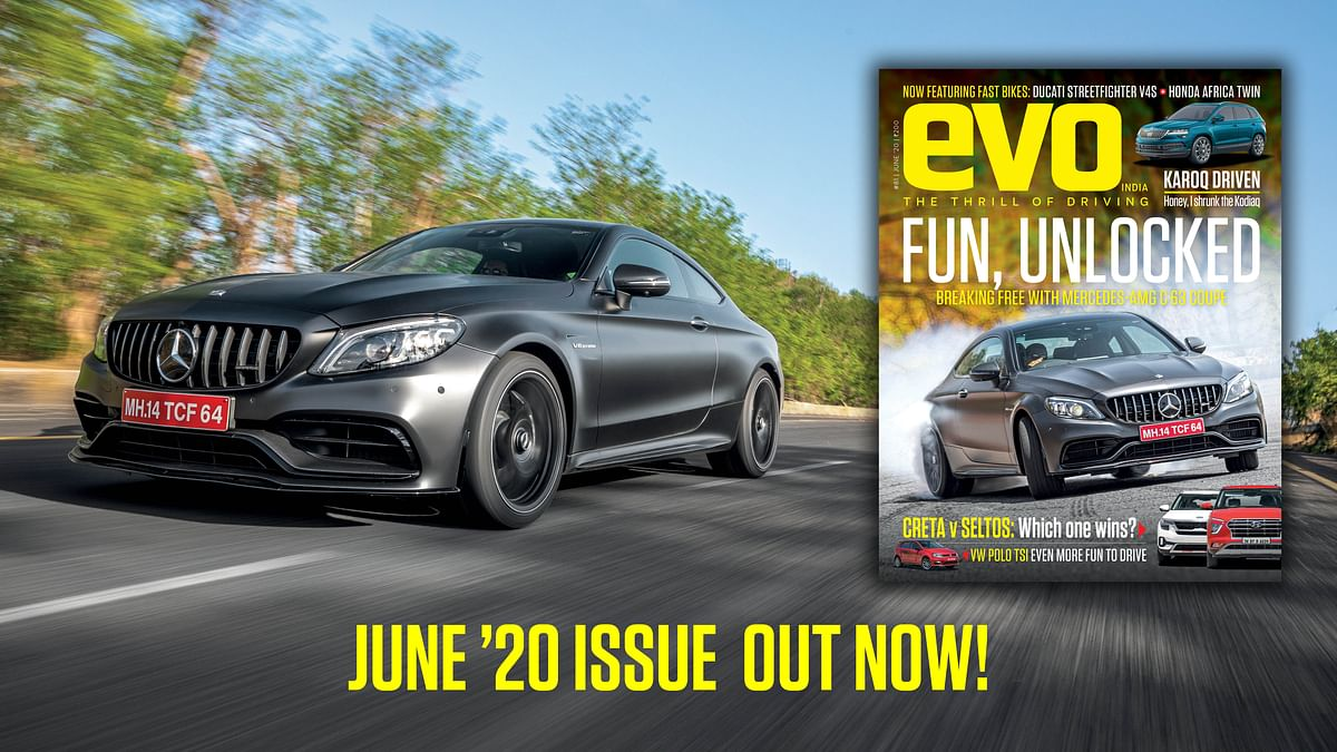 Mercedes-AMG C 63 Coupe headlines the June 2020 issue of evo India magazine!