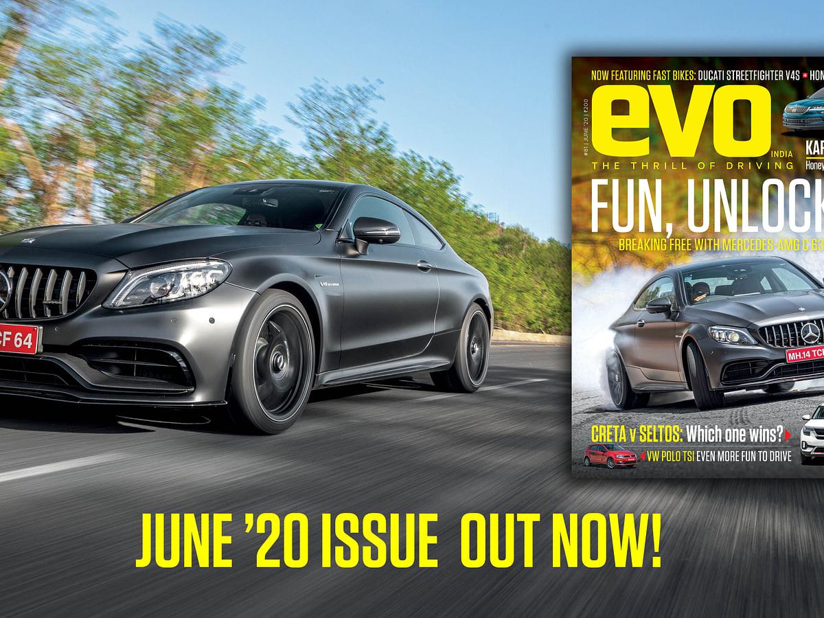 Mercedes-AMG C 63 Coupe headlines the June 2020 issue of evo India magazine!