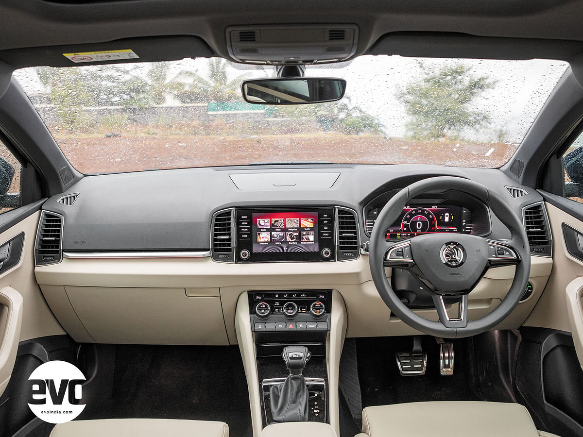 The layout of the dash is similar to that of the Kodiaq