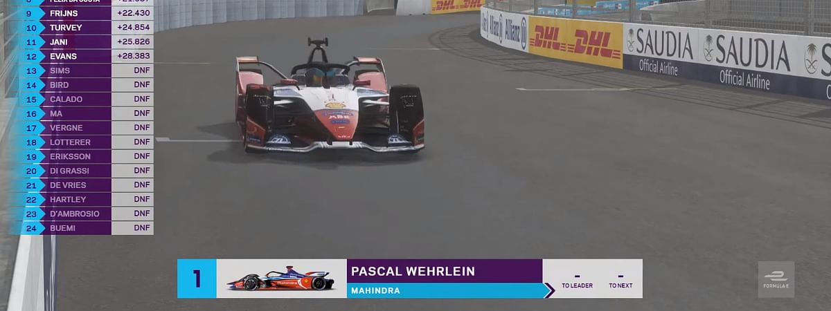 Pascal Wehrlein wins round 7 of the FIA ABB Formula E Stay At Home challenge