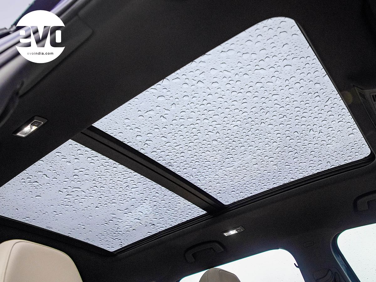Panoramic sunroof adds plenty of light in to the cabin