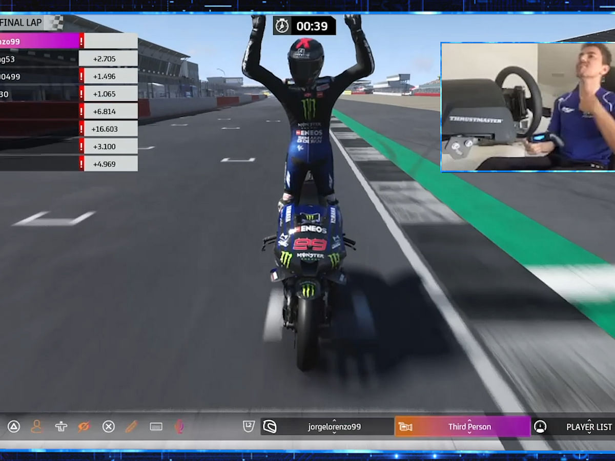 Jorge Lorenzo bags the win on his Virtual MotoGP debut