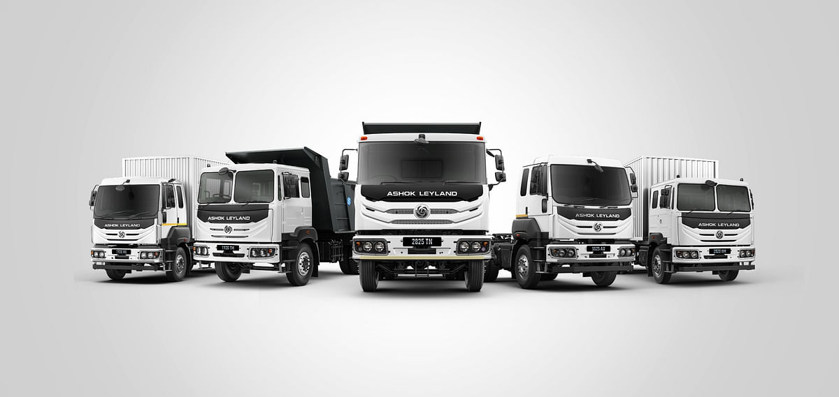 Ashok Leyland's AVTR trucks in the most common body styles