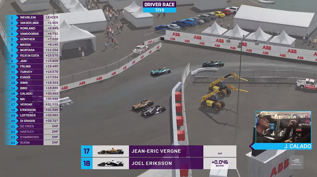 Jean Eric Vergne put everything on the line to overtake Eriksson
