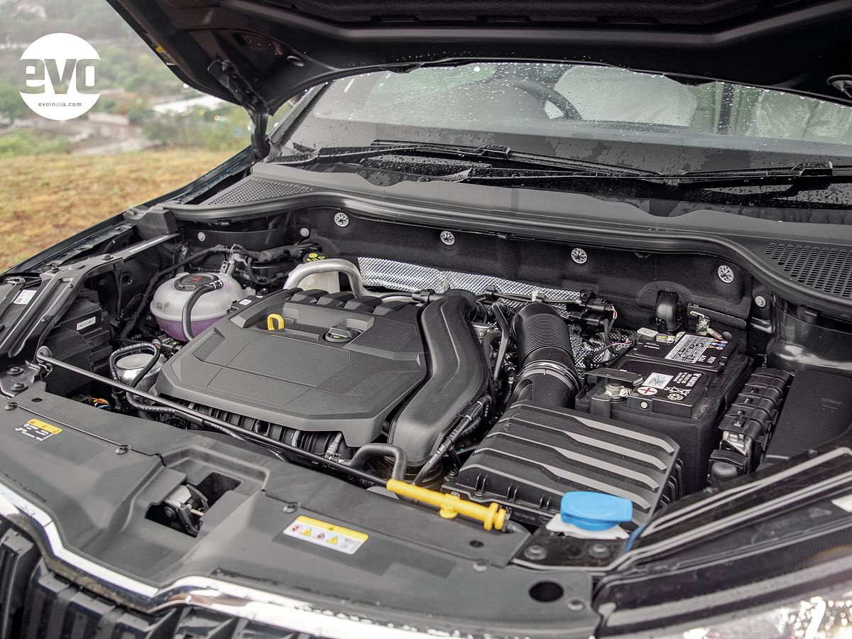 The 1.5 TSI Evo engine puts a spring in the Karoq's step