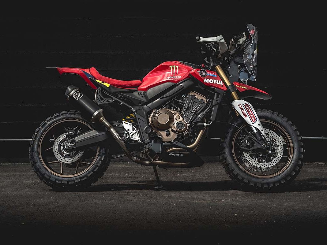 This Honda CB650R rally custom is a hoot!