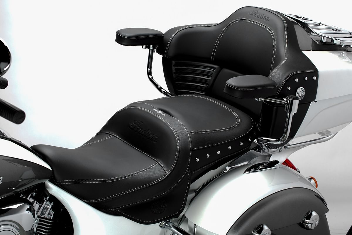 The Indian ClimaCommand Classic Seat with backrest and armrest