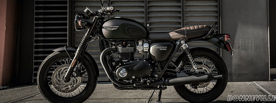 Triumph Motorcycles India has launched the Black editions of the Bonneville T100 and T120.