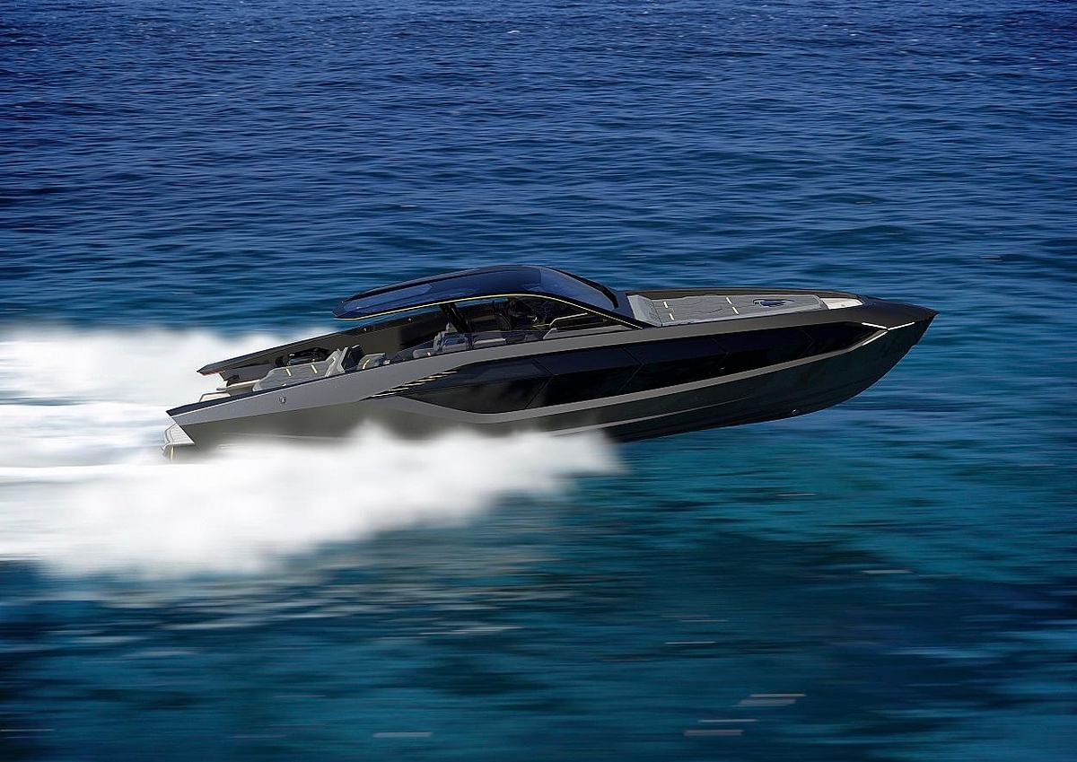 Lamborghini unveils 'Tecnomar for Lamborghini 63' yacht | A rocket for the sea?