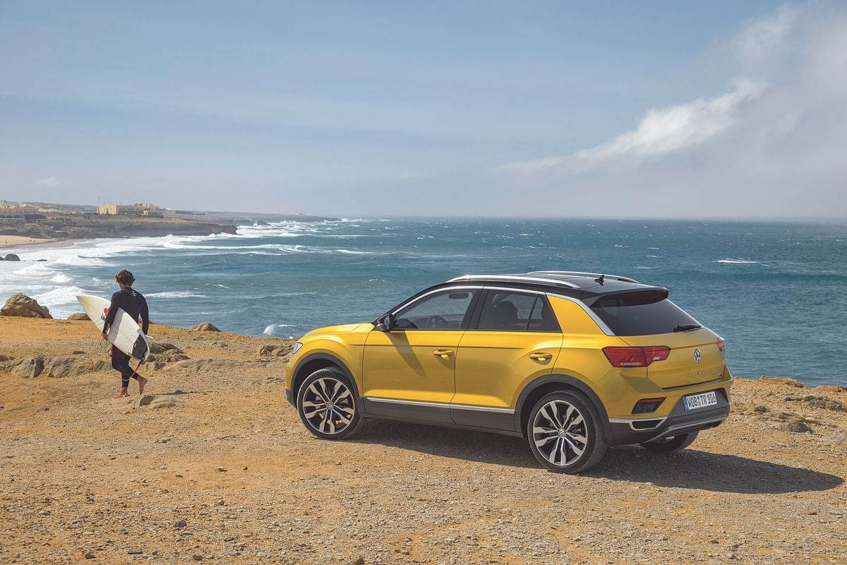 Funky yellow colour of the T-Roc