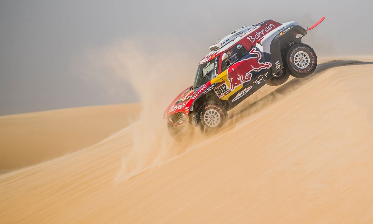 Stephane Peterhansel at the 2020 Dakar Rally