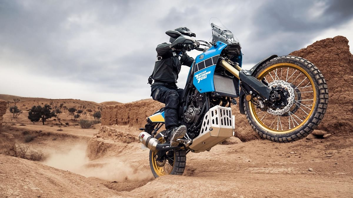 The model pays tribute to the 80's Dakar Rally racers