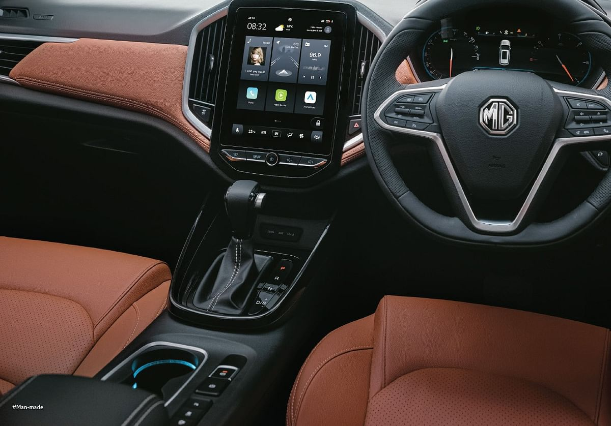 Tan coloured leather is new for the MG Hector Plus