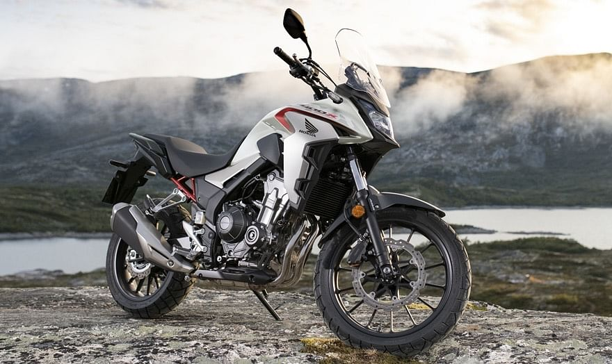 The Honda CB400X is powered by a twin-cylinder motor