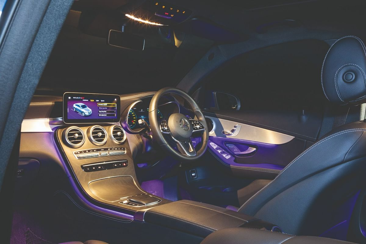 The GLC Coupe gets a 12.3-inch digital instrument cluster and a 10.25-inch infotainment screen
