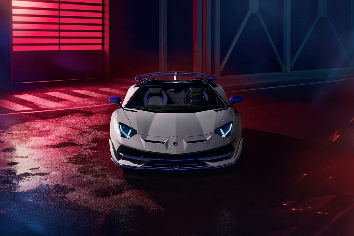 Lamborghini's trademark Y-shapes are visible in the headlights...