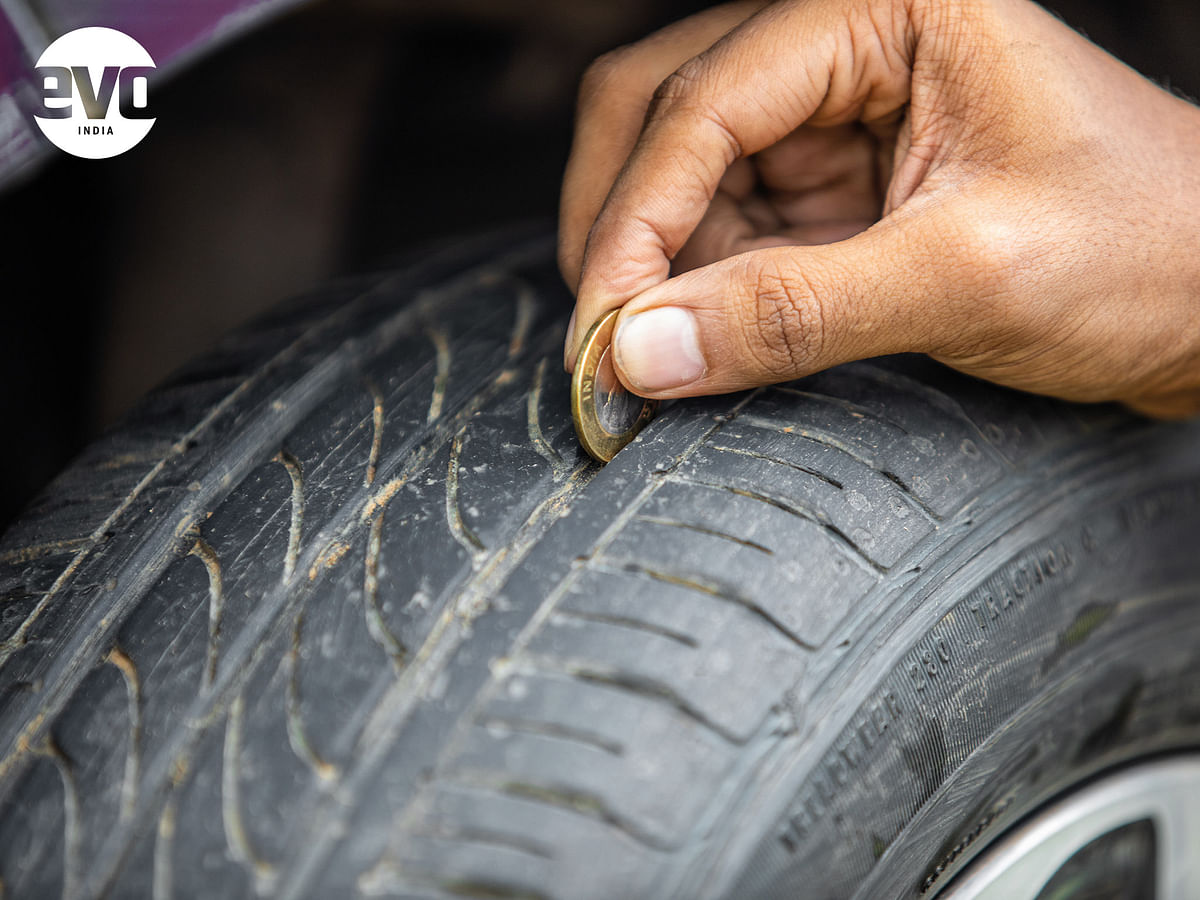 The coin trick to check tyre tread depth