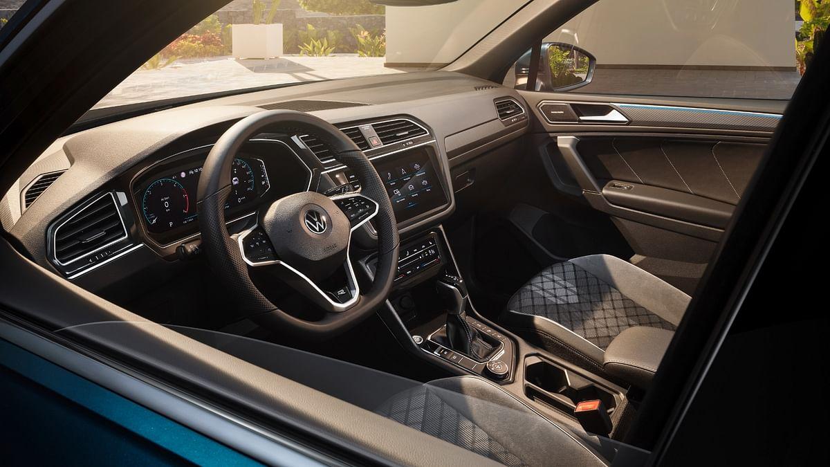 Front seats are trademark functional Volkswagen