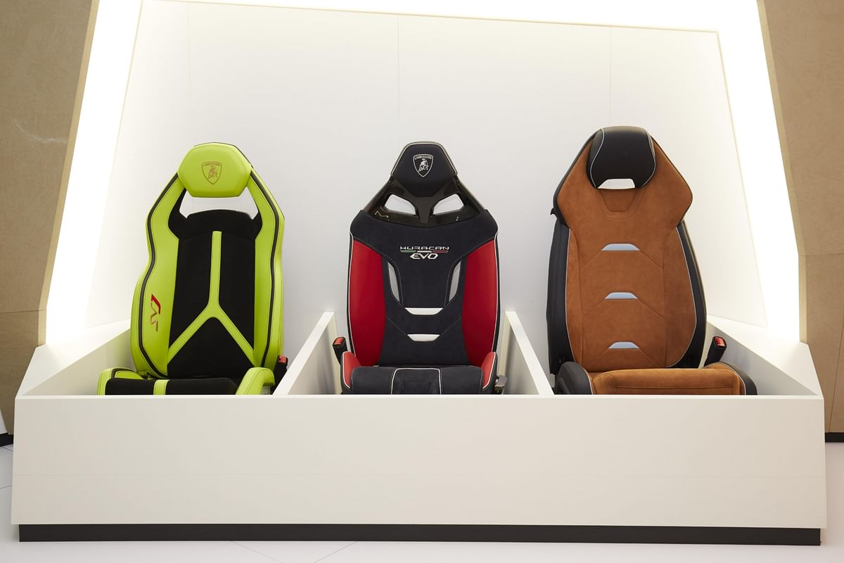 A few of the seat styles on offer at the Ad Personam studio