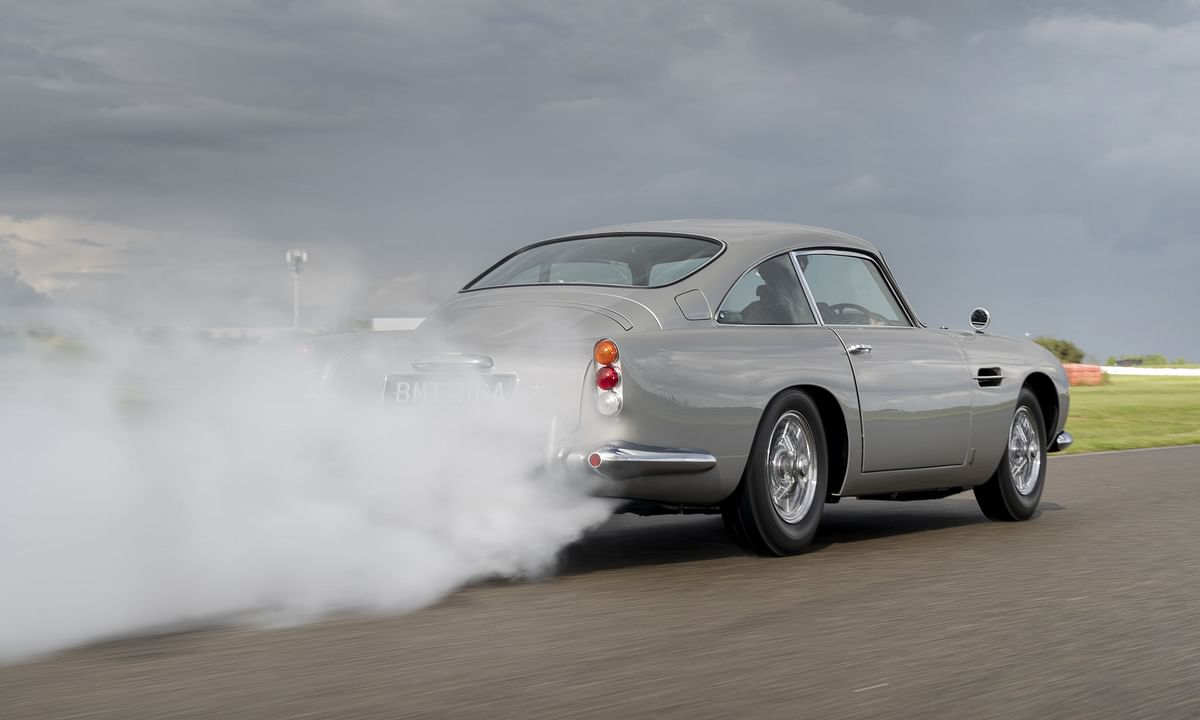 Aston Martin DB5 Goldfinger rolls off the line after fifty years