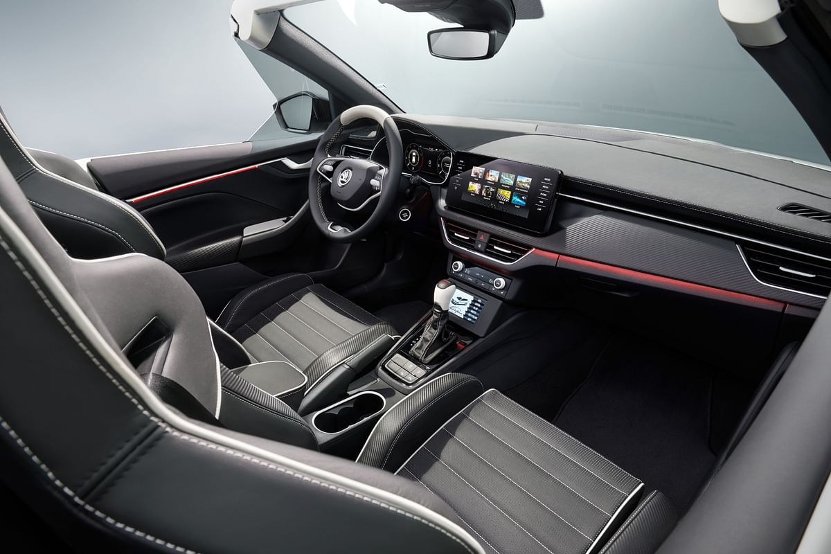 Interiors feature tasteful, contrast-stitched leather on the seats, dash and steering
