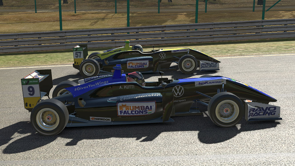 Amith Kutti and Sai Prithvi were  neck-and-neck in race one, before the former prevailed