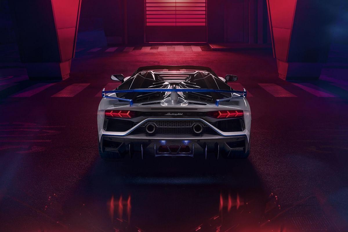 ...as well as taillights of the Lamborghini Aventador SVJ Xago
