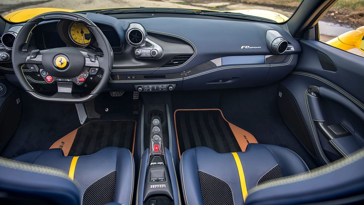 Typical Ferrari cabin