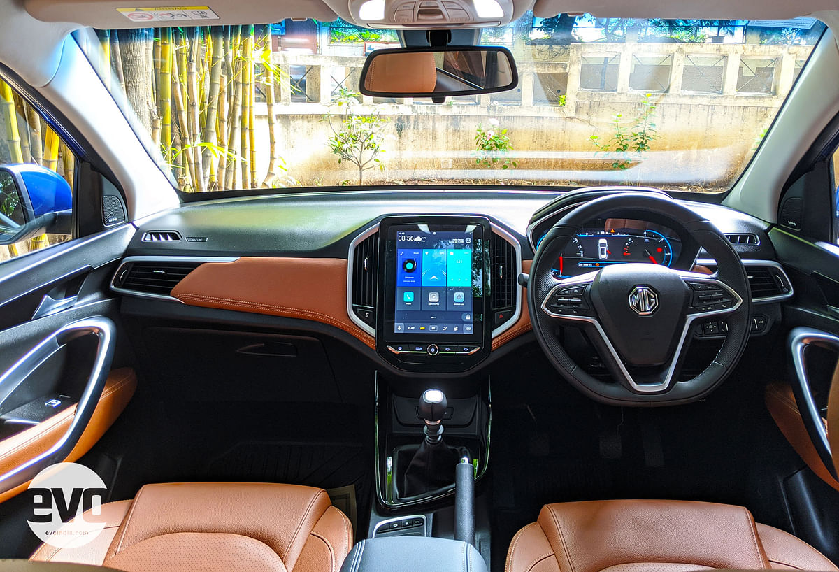 The dash layout is the same, but the interiors are now dual-tone