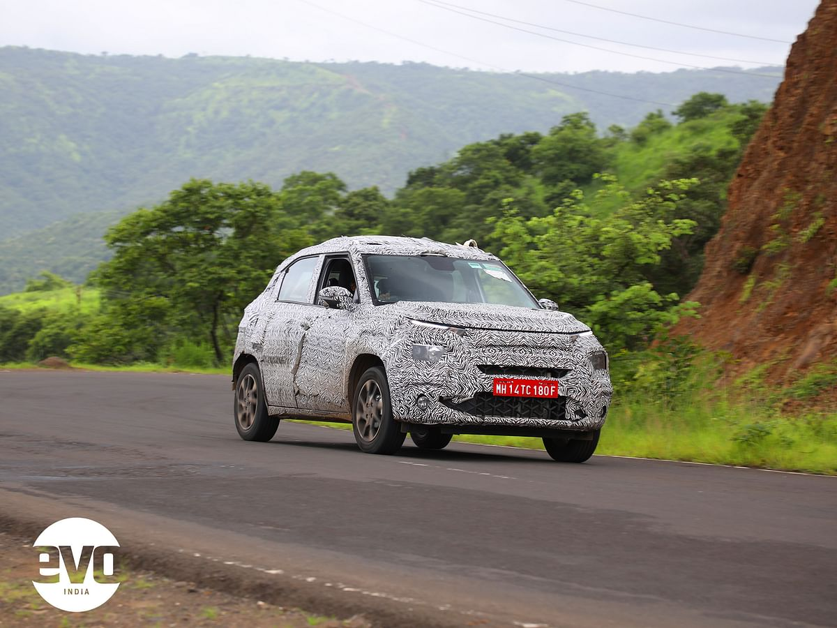 Close to production Tata HBX micro-SUV spied testing
