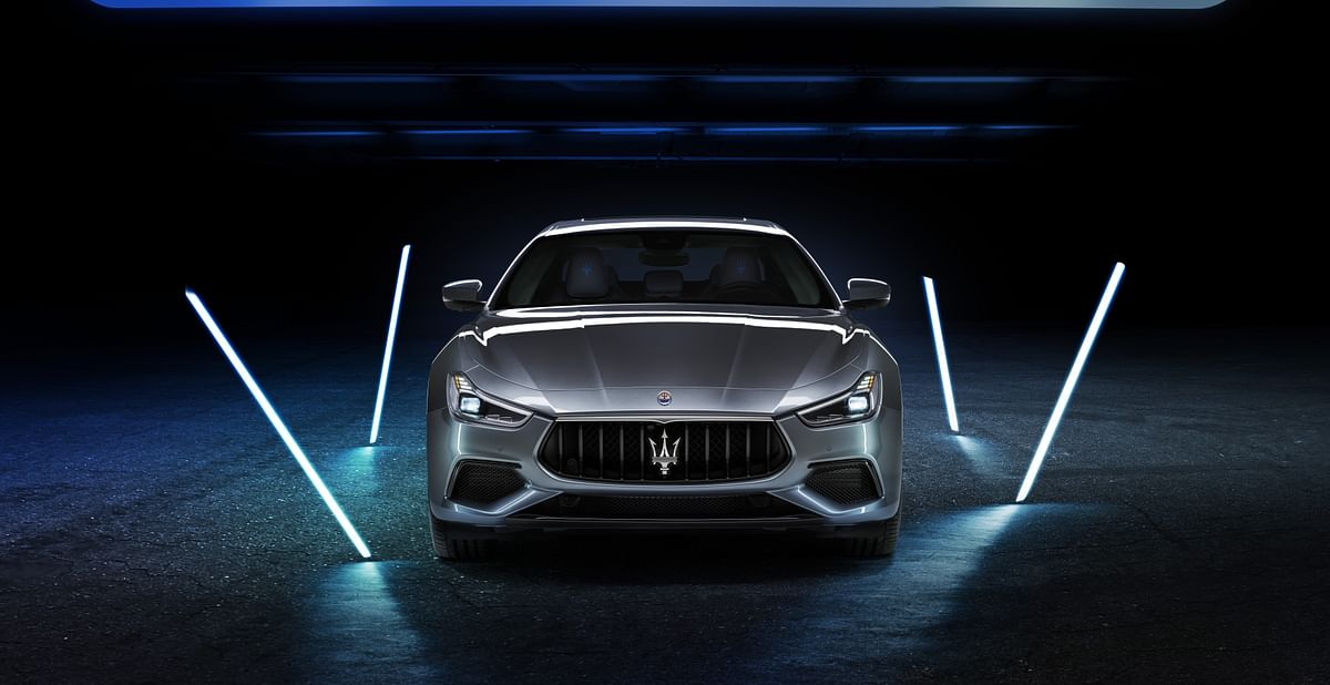 Redesigned grille resembles a tuning fork or, more closely, the Maserati trident