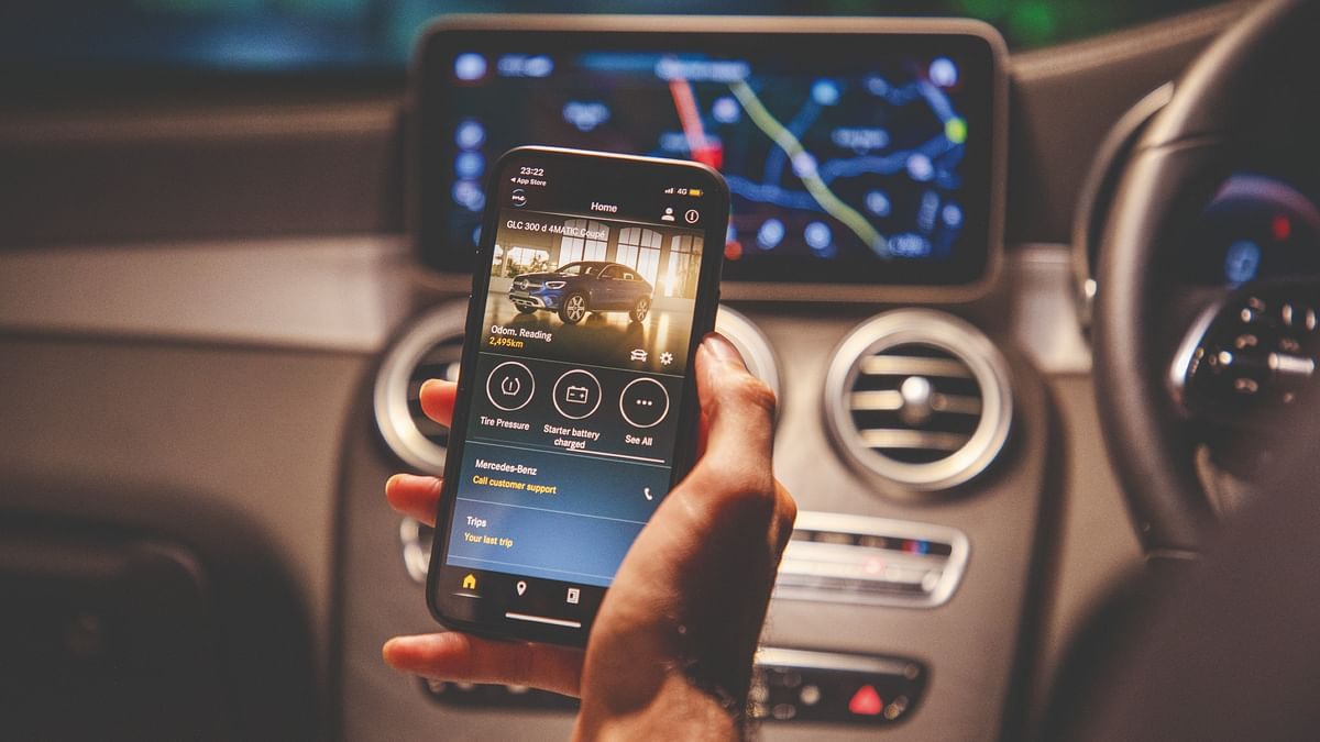 The Mercedes Me app allows you to remotely connect to your car