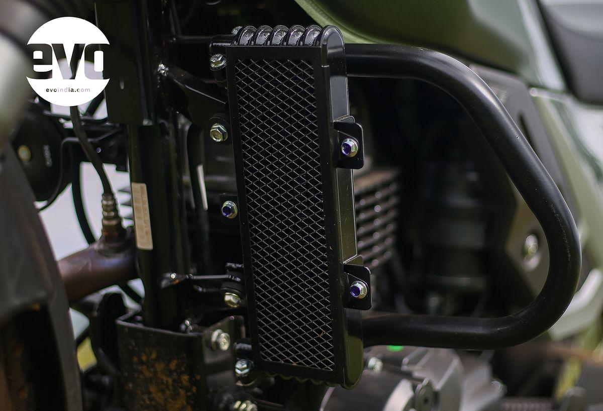 Oil cooler on the Hero Xpulse 200 BS6