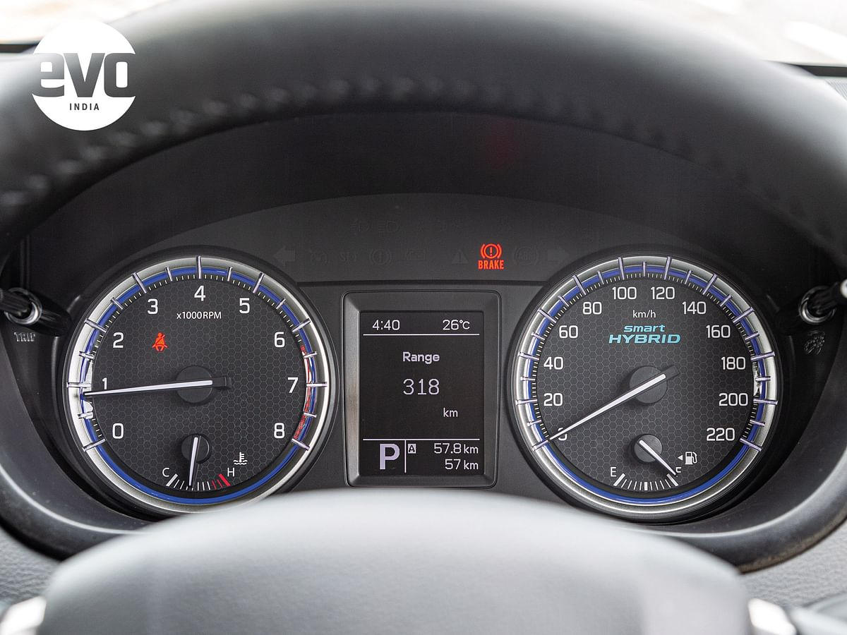 Instrument cluster is neat and legible