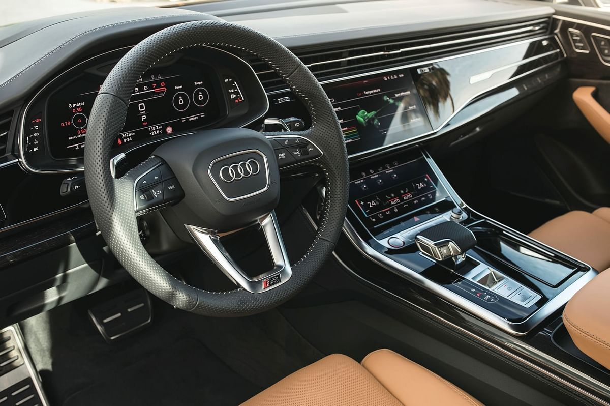 The cockpit of the RS Q8 is a class apart