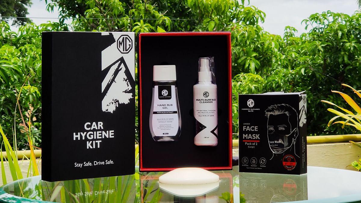 Car hygiene kit from MG Motor India