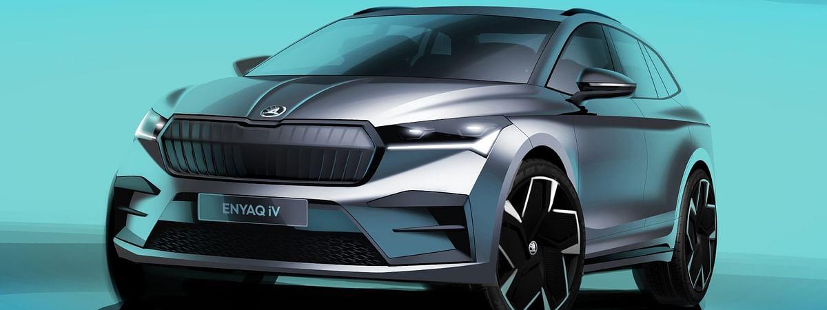Skoda Enyaq iV design sketches revealed