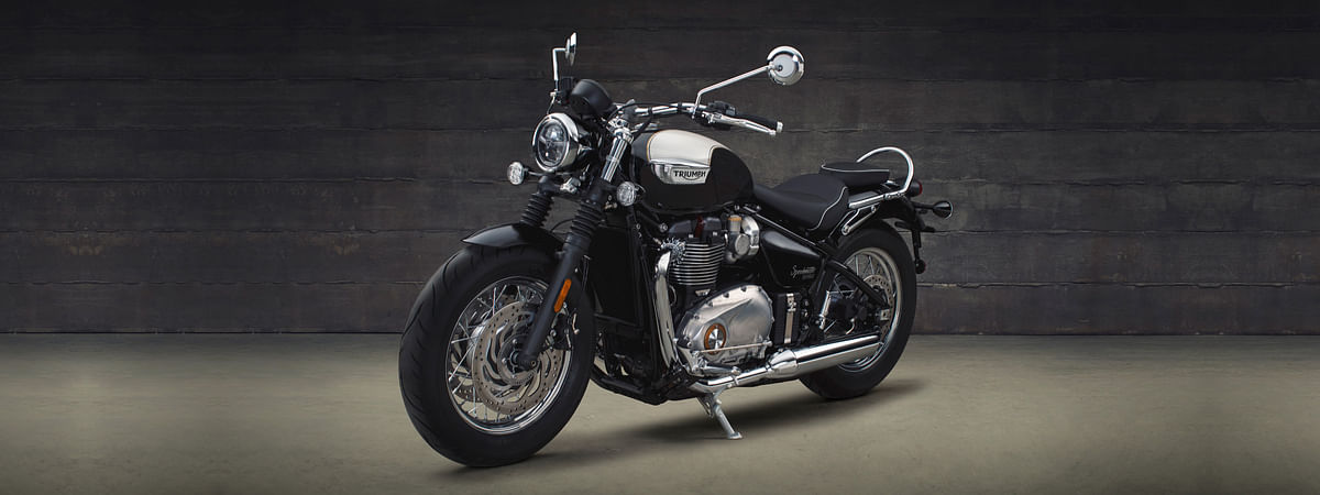 The flagship Bonneville Speedmaster, which makes 107Nm of torque