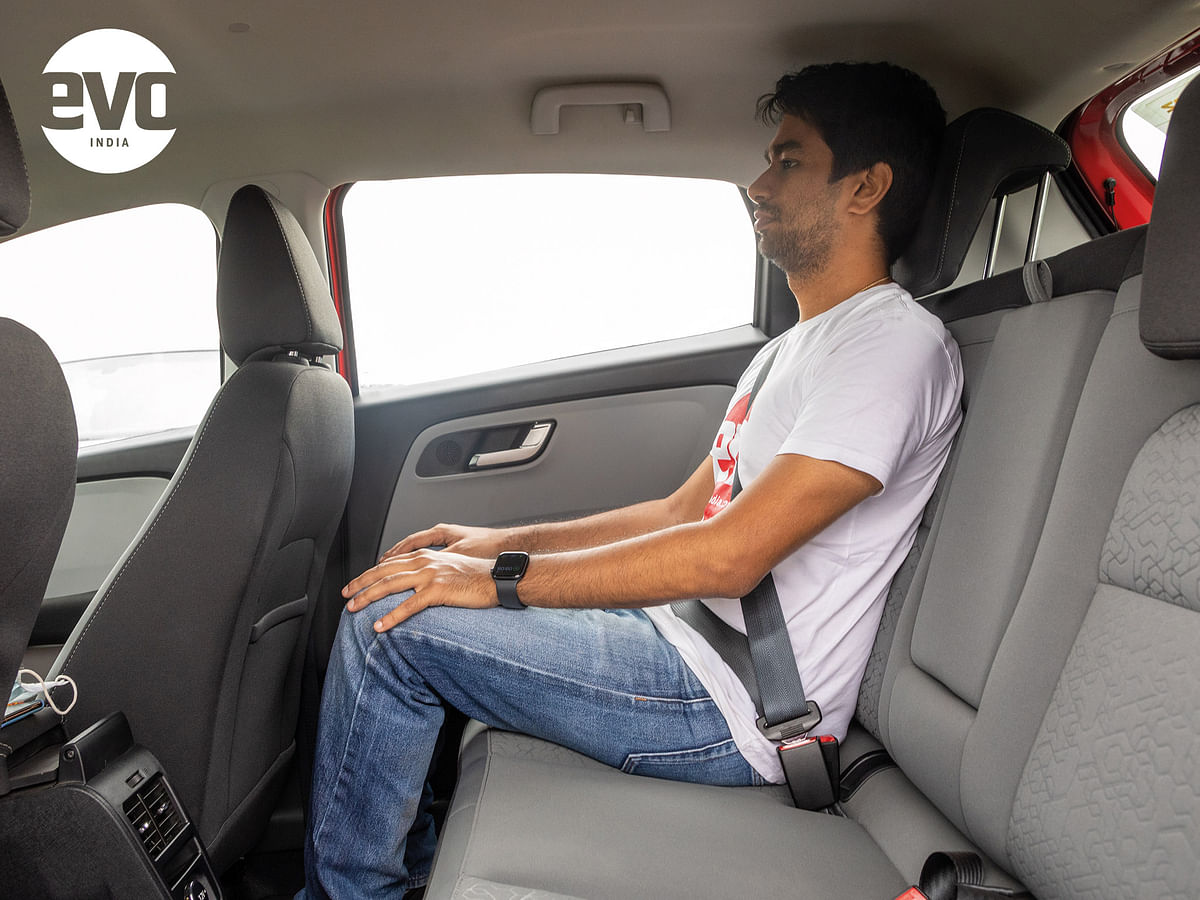 Tata Altroz rear seat space