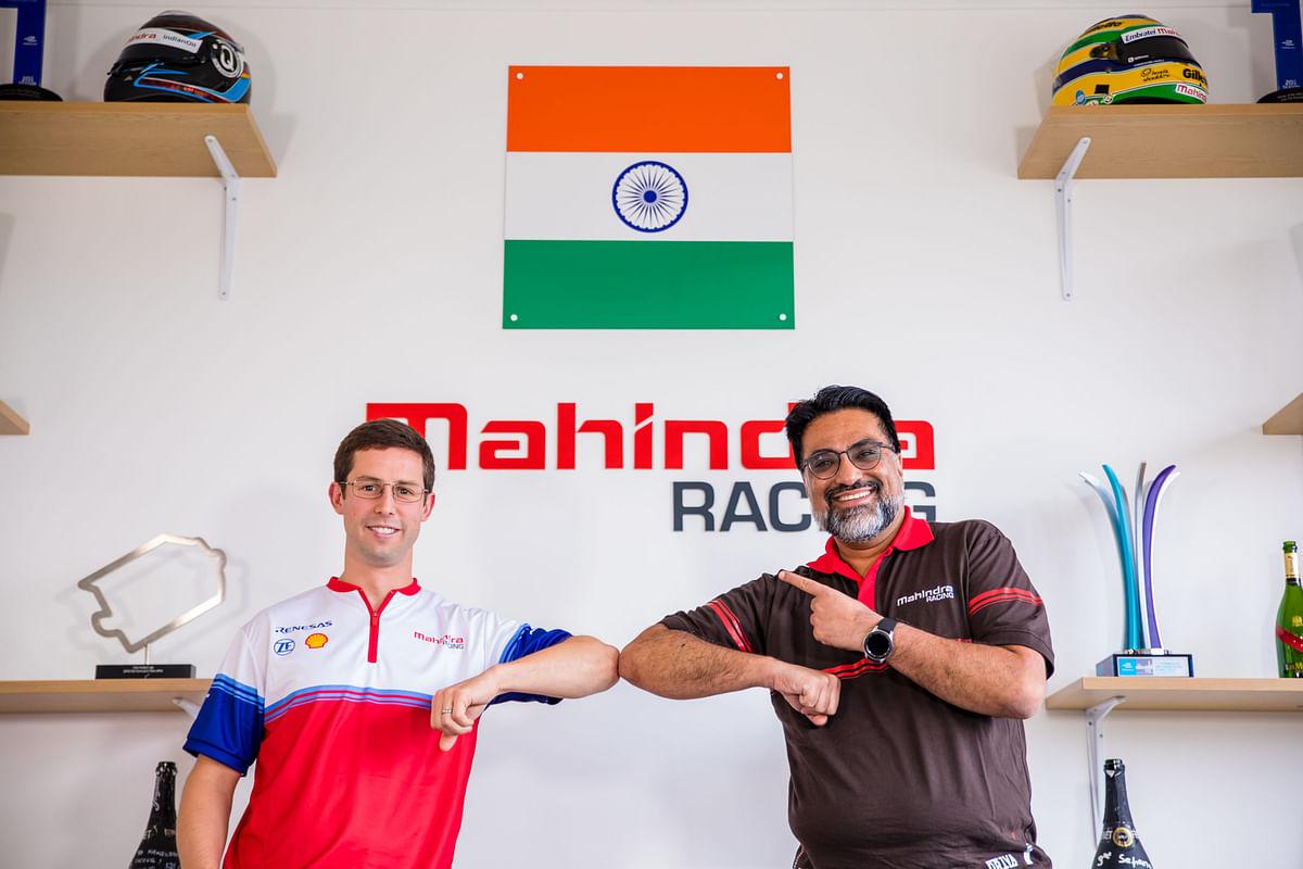 Alexander with Mahindra Racing's principal Dilbagh Gill