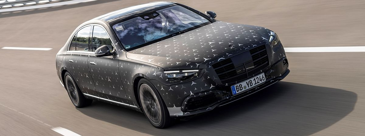 The 2021 S Class in a camouflaged guise