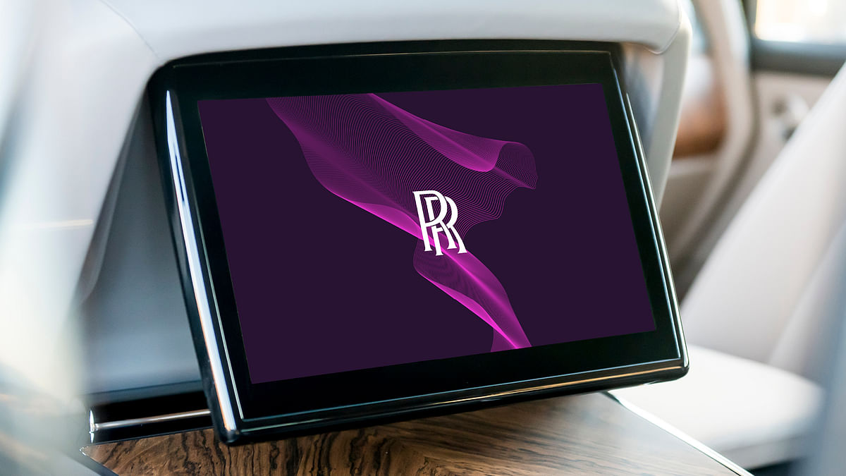 The new Purple Spirit theme will envelope every screen Rolls-Royce uses