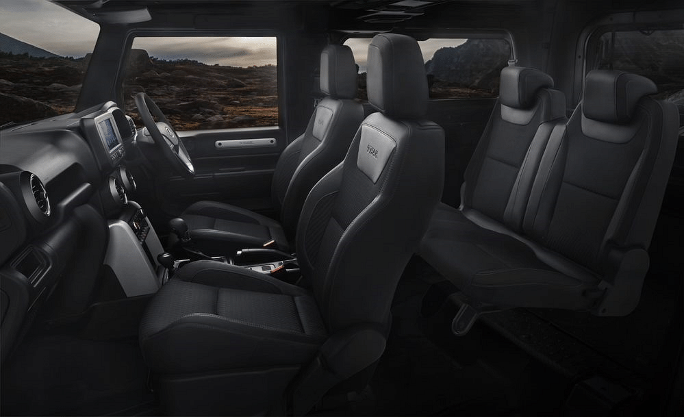 Forward facing rear seats only on the LX variant