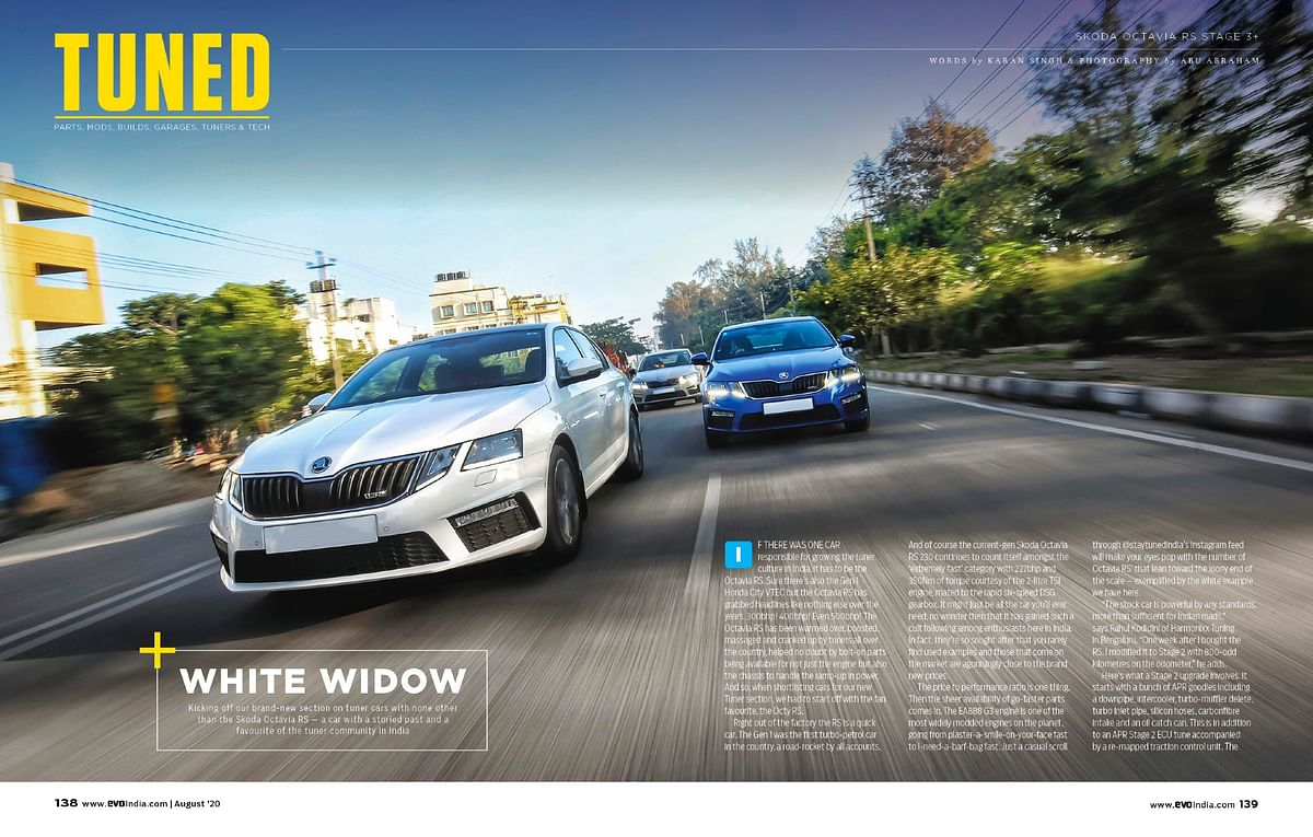 Our newest added section comprising of tuned cars, wher we kick off with crazy Skoda Octavia RS that kicks out a mad 485bhp