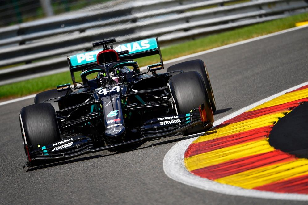 Lewis Hamilton finishes on top at Belgian Grand Prix